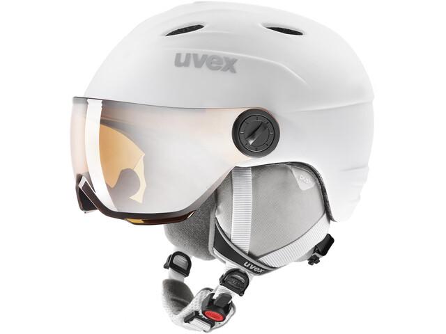 UVEX Junior Visor Pro Helm Kinderen, white mat